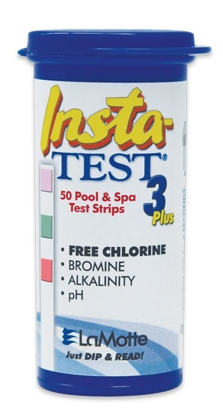 Insta-Test 3 Plus Test Strips for pools and spas.