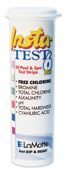 Insta-Test 6 test strips, for pools and spas.