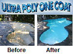 Ultra Poly One Coat is a Hybrid-Epoxy Coating for refinishing plastered or fiberglass pool, spas or fountains.