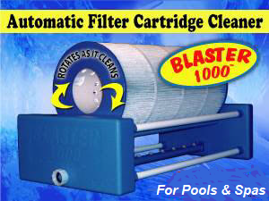 Automatic Filter Cartridge Cleaners, for pools and spas.