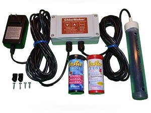 ChlorMaker Drape-Over Salt Chlorine Generator, for spas and swim spas.