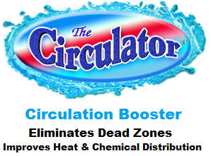 Circulator boosts pool water circulation.