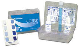 Copper test kit for pools and spas