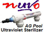 Unltravioloet (UV) sterilizers, for all ypes of residential pools and spas.