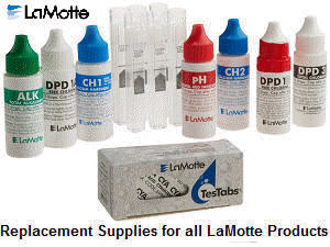Replacement chemical and supplies for all LaMotte testing products.