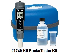 #1749 PockeTester Kit, for salt TDS and temperature.