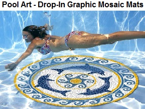 Drop-In Graphic Mosaic Pool Art Mats