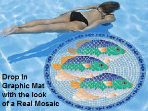 Pool Graphic Mosaic Mat - Tropical Fish