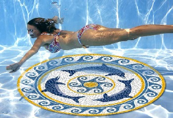 Pool Art Graphic Mosaic Mats, for all types of pools.