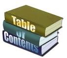 Website Table of Contents