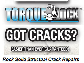 Torque-Lock repairs structural concrete cracks.