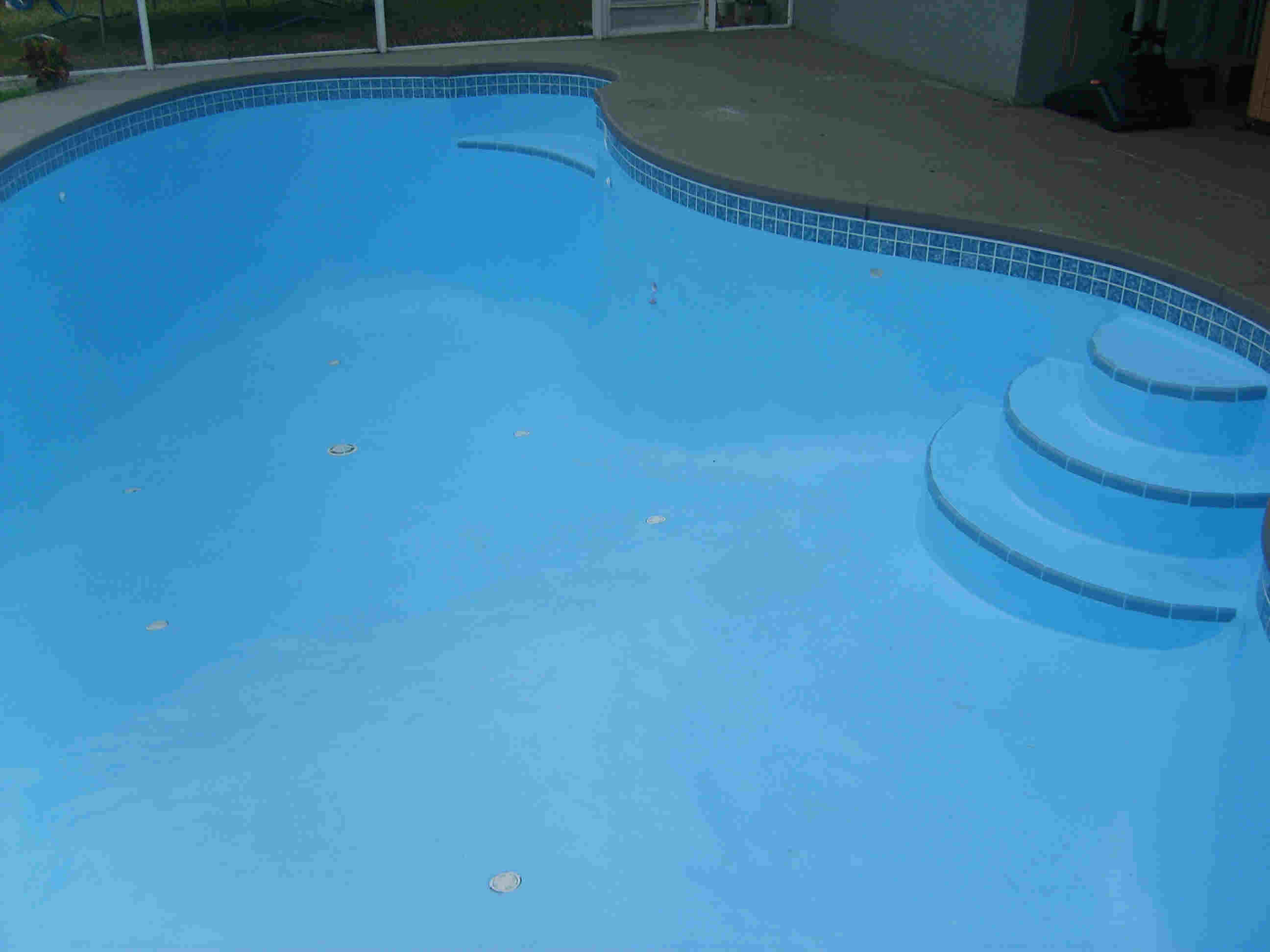 BEFORE, Ultra Poly One Coat   Hybrid Epoxy Paint, For Pools And Spas. AFTER